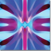 "Trademark Global Amy Vangsgard ""Tree Light Symmetry Blue and Purple"" Canvas Art, 18"" x 18"""