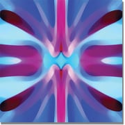 "Trademark Global Amy Vangsgard ""Tree Light Symmetry Blue and Purple"" Canvas Art, 24"" x 24"""