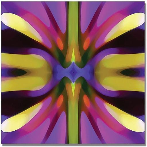 "Trademark Global Amy Vangsgard ""Tree Light Symmetry Magenta and Green"" Canvas Art, 18"" x 18"""