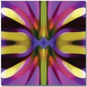 "Trademark Global Amy Vangsgard ""Tree Light Symmetry Magenta and Green"" Canvas Art, 35"" x 35"""