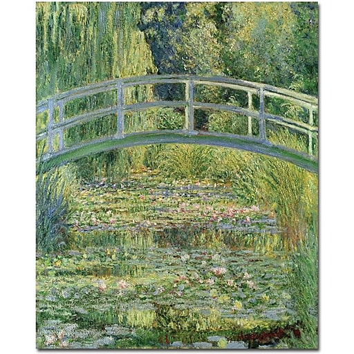 "Trademark Global Claude Monet ""The Waterylily Pond Pink Harmony 1899"" Canvas Art, 19"" x 14"""