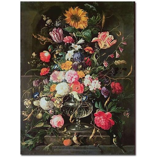 "Trademark Global Cornelis De Heem ""Still Life"" Canvas Art, 19"" x 14"""