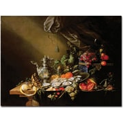 "Trademark Global Cornelis De Heem ""Banquet Still Life"" Canvas Arts"
