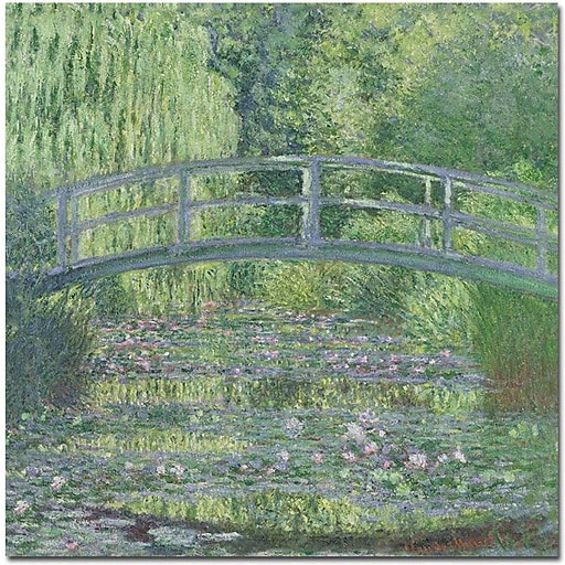 """Trademark Global Claude Monet """"The Waterylily Pond, 1899"""" Canvas Art, 24"""" x 24"""""""