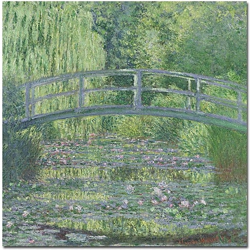 "Trademark Global Claude Monet ""The Waterylily Pond, 1899"" Canvas Art, 35"" x 35"""