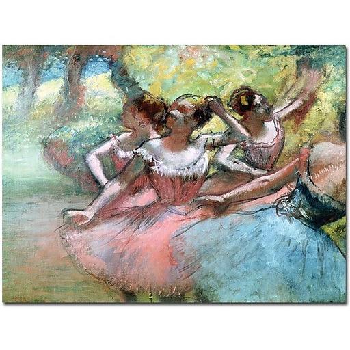 "Trademark Global Edgar Degas ""Four Ballerinas on the Stage"" Canvas Art, 24"" x 32"""