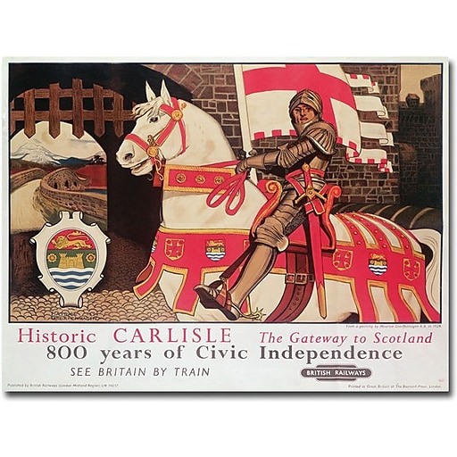 """Trademark Global """"Maurice Greffenhagen Getaway to Scotland 1924"""" Canvas Art, 35"""" x 47"""""""