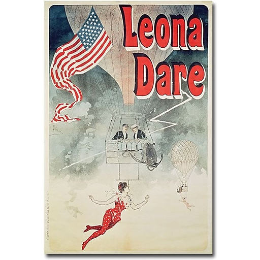 "Trademark Global Jules Cheret ""Leona Fare, 1890"" Canvas Art, 24"" x 16"""