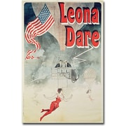 "Trademark Global Jules Cheret ""Leona Fare, 1890"" Canvas Art, 47"" x 30"""