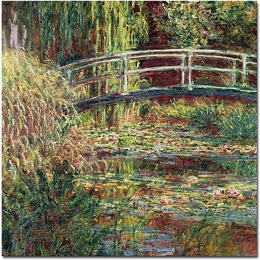 """Trademark Global Claude Monet """"The Waterylily Pond Pink Harmony 1899"""" Canvas Art, 18"""" x 18"""""""