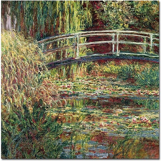 "Trademark Global Claude Monet ""The Waterylily Pond Pink Harmony 1899"" Canvas Art, 35"" x 35"""