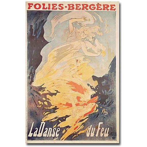 "Trademark Global Jules Cheret ""La Danse du Feu, 1897"" Canvas Art, 24"" x 16"""