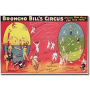 "Trademark Global ""Broncho Bill's Circus, Brimingham, 1890s"" Canvas Art, 16"" x 24"""