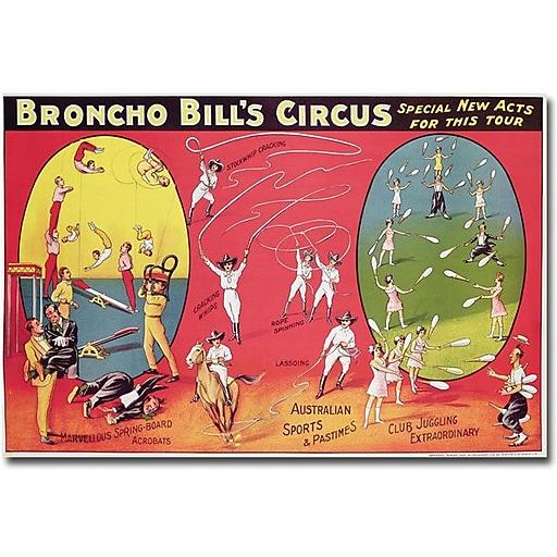 "Trademark Global ""Broncho Bill's Circus, Brimingham, 1890s"" Canvas Art, 16"" x 24"""
