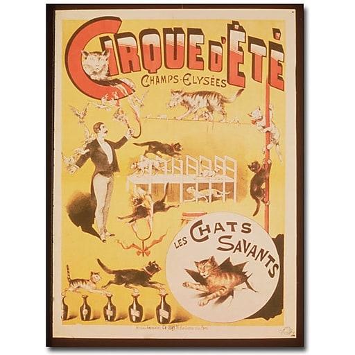 """Trademark Global """"Cirque d'Ete Champs Elysses"""" Canvas Art, 24"""" x 16"""""""
