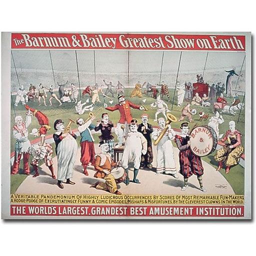 """Trademark Global """"Barnum and Bailey Greatest Show on Earth"""" Canvas Art, 35"""" x 47"""""""