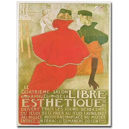 "Trademark Global ""Salon Annuel de la Libre Esthetique, 1897"" Canvas Art, 47"" x 35"""