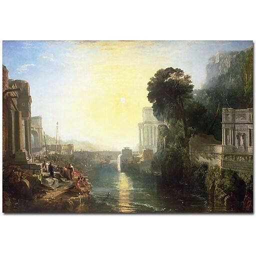 "Trademark Global Joseph Turner ""Dido building Carthage"" Canvas Art, 30"" x 47"""
