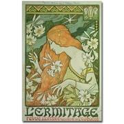 "Trademark Global Paul Brethon ""L'Emitage 1872"" Canvas Art, 47"" x 30"""