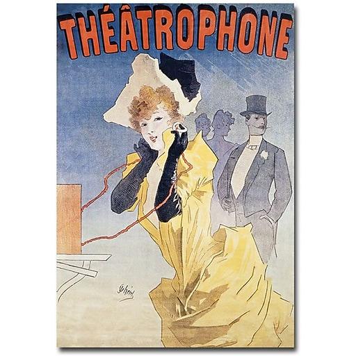 "Trademark Global Jules Cheret ""Theatrophone"" Canvas Art, 24"" x 16"""