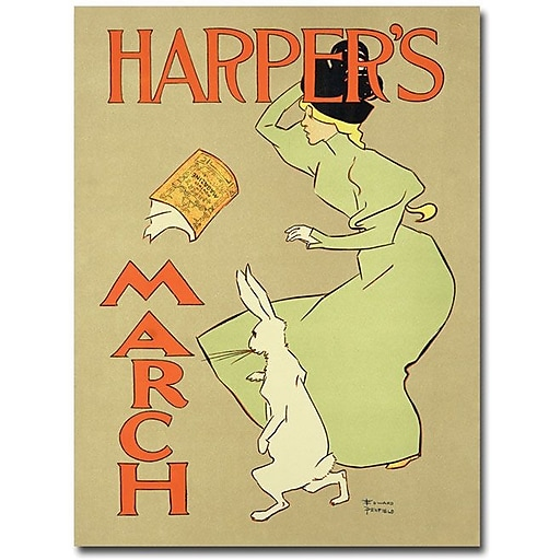 "Trademark Global ""Harper""s Mazazine March Edition, 1984"" Canvas Art, 47"" x 35"""