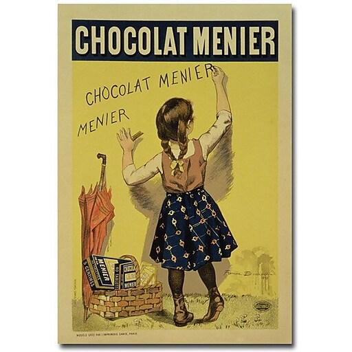 "Trademark Global Firmin Bouisset ""Menier Chocolate 1893"" Canvas Art, 47"" x 30"""