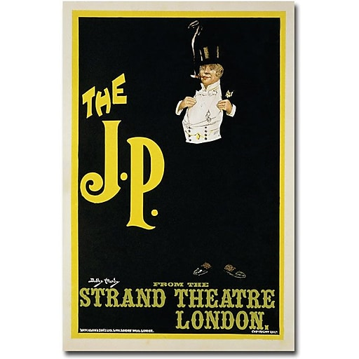 """Trademark Global Dudley Hardy """"The J.P. at the Strand Theater, 1898"""" Canvas Art, 24"""" x 16"""""""