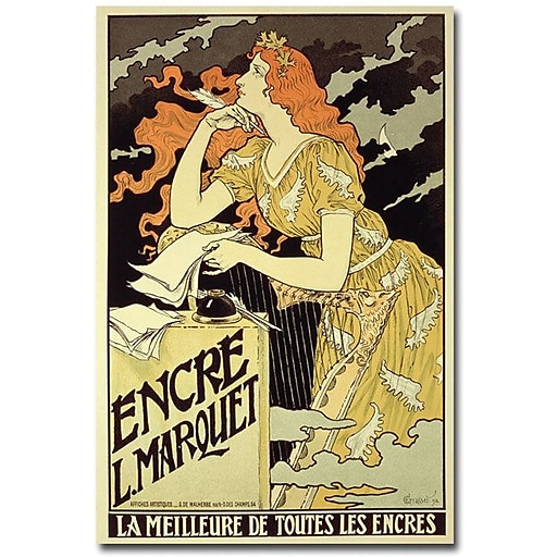 "Trademark Global Eugene Grasset ""Marquet Ink 1892"" Canvas Art, 47"" x 30"""
