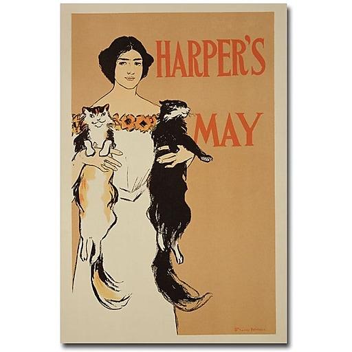 "Trademark Global Edward Penfield ""Harper's Magazine May 1897"" Canvas Art, 47"" x 35"""