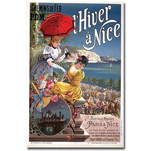 "Trademark Global Hugo d'Alesi ""Winter in Nice"" Canvas Art, 24"" x 16"""
