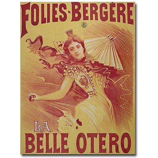 "Trademark Global Bataille ""Le Belle Otero, 1894"" Canvas Art, 24"" x 18"""