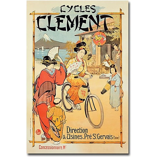 """Trademark Global """"Cycles Clement"""" Canvas Art, 24"""" x 16"""""""