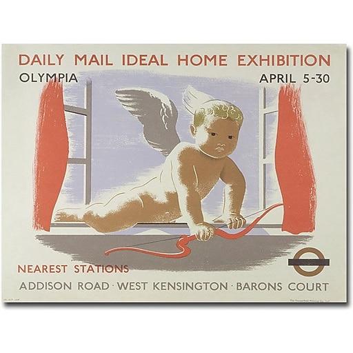 "Trademark Global ""Home Exibition at Kensington Olympia 1938"" Canvas Art, 18"" x 24"""