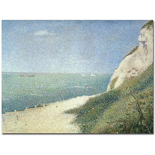 """Trademark Global Georges Seurat """"Beach at Bas Butin - Honfleur - 1886"""" Canvas Art, 26"""" x 32"""""""