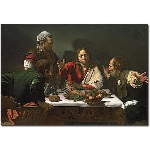 "Trademark Global Caravaggio ""The Supper at Emmaus 1601"" Canvas Art, 30"" x 47"""