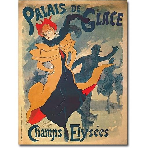 """Trademark Global Jules Cheret """"Palais de Glace dans Camps Elysees"""" Canvas Art, 47"""" x 35"""""""