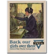 "Trademark Global Clarence Underwood ""Back Our Girls Over There, 1918"" Canvas Art, 24"" x 18"""