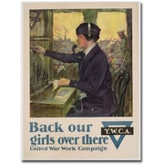 "Trademark Global Clarence Underwood ""Back Our Girls Over There, 1918"" Canvas Art, 47"" x 35"""