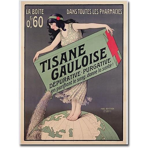 "Trademark Global ""Paul Brethon Tisana Gauloise 1900"" Canvas Art, 24"" x 18"""