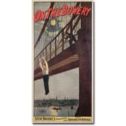 "Trademark Global Steve Brodie ""Steve Brodie's Leap from the Brooklyn Bridge"" Canvas Art, 47"" x 24"""