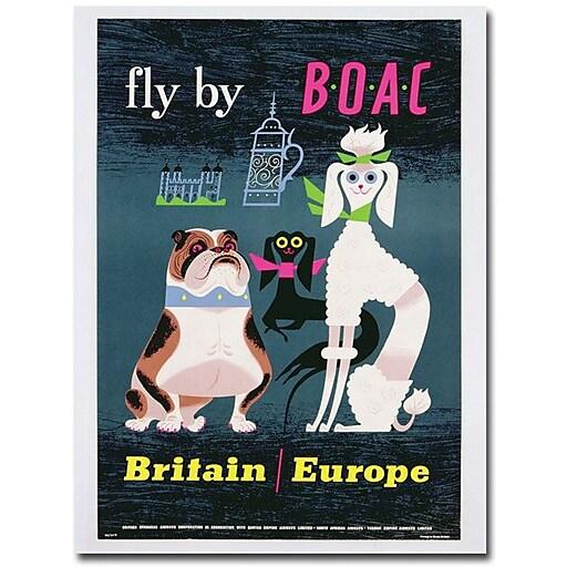 "Trademark Global ""British Overseas Airways 1962"" Canvas Art, 24"" x 18"""
