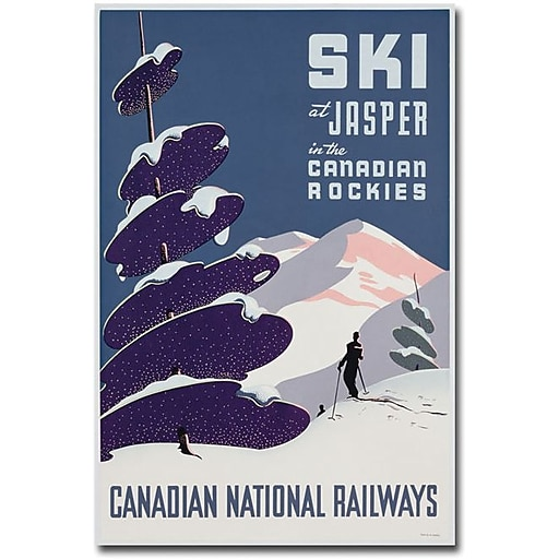 "Trademark Global ""Canadian Ski Resort jasper"" Canvas Art, 24"" x 16"""