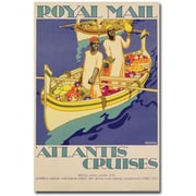 "Trademark Global Kenneth Shoesmith ""Atlantis Cruises, 1930"" Canvas Arts"