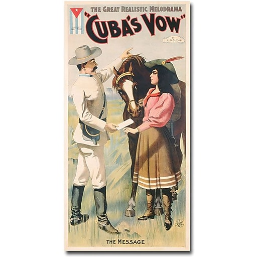 "Trademark Global ""Cuban Vow, 1897"" Canvas Art, 47"" x 24"""