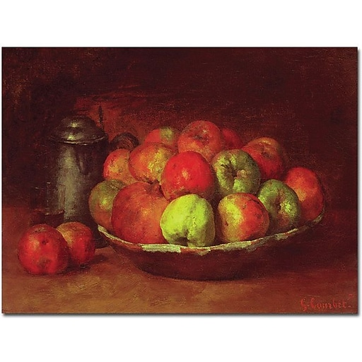 """Trademark Global Gustave Courbet """"Still Life with Fruit, 1871-72"""" Canvas Art, 14"""" x 19"""""""