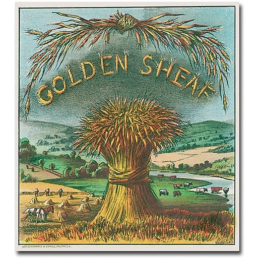 "Trademark Global ""Golden Sheaf Cigar Label"" Canvas Art, 18"" x 18"""