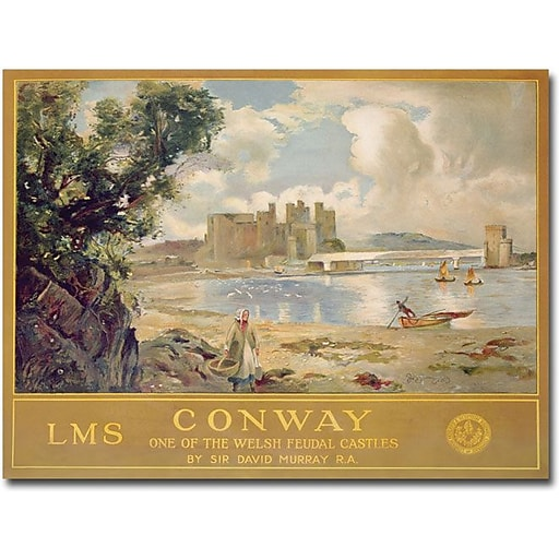 "Trademark Global David Muray ""Midland & Scottish Railway 1930"" Canvas Art, 18"" x 24"""