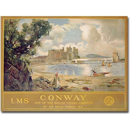 "Trademark Global David Muray ""Midland & Scottish Railway 1930"" Canvas Art, 26"" x 32"""