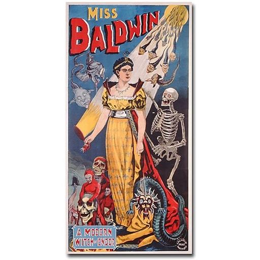 """Trademark Global """"Miss Baldwin A Modern Witch of Endor 1888"""" Canvas Art, 47"""" x 24"""""""