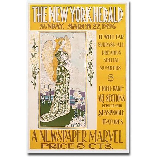 "Trademark Global Louis Rhead ""The New York Herald, 1896"" Canvas Art, 47"" x 30"""